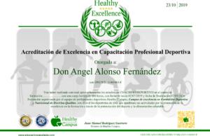 Acreditación de excelencia en capacitación profesional deportiva HC